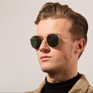 💯NEW💯Ray Ban Round Metal Frame Gold RB3447